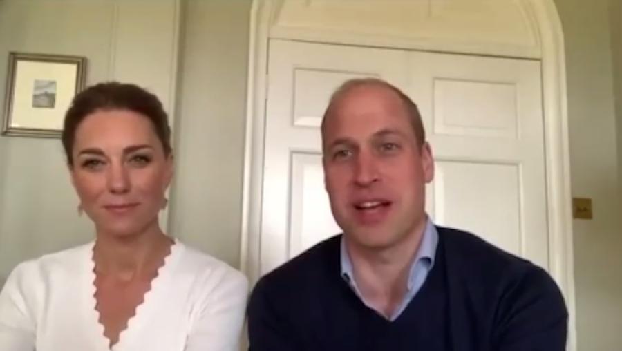 Кейт Миддлтон и принц Уильям устроили видеоконференцию с волонтёрами службы психологического здоровья. Фото скриншот @kensingtonroyal