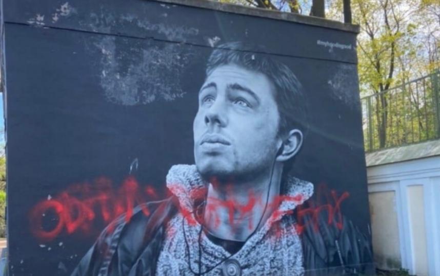 Граффити с Сергеем Бодровым в Петербурге пока не будут восстанавливать. Фото megapolisonline.ru