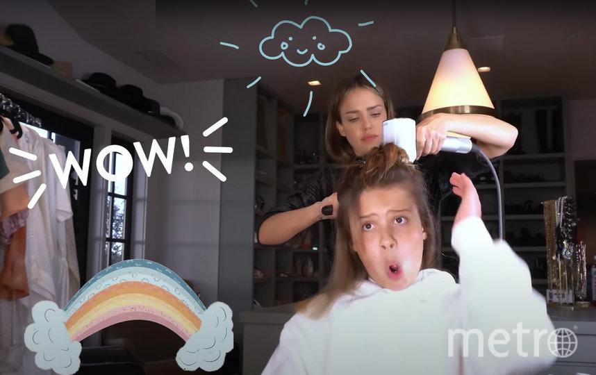 Джессика Альба и её 11-летняя дочь Онор Мари Уоррен. Фото Скриншот, Скриншот Youtube