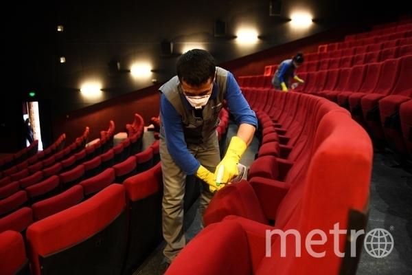 Обработка кинозала в Новосибирске. Фото РИА Новости