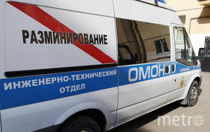 Гранату вывезли со Стасовой улицы. Фото пресс-службы ГУ Росгвардии по СПб и ЛО