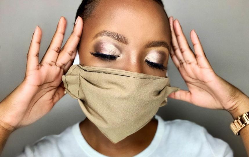 Вариант макияжа с бронзовыми тенями с эффектом металлик. Фото instagram.com/vuyelwa_ndlovu
