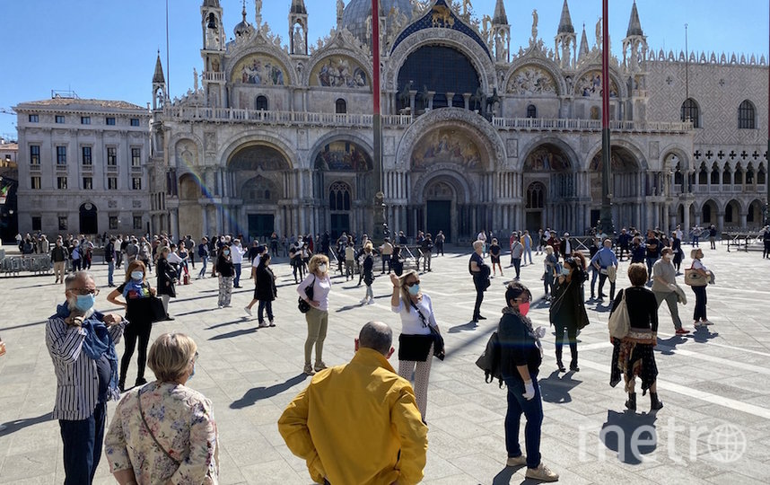 На площадь Сан-Марко в Венеции вернулись люди. Фото AFP