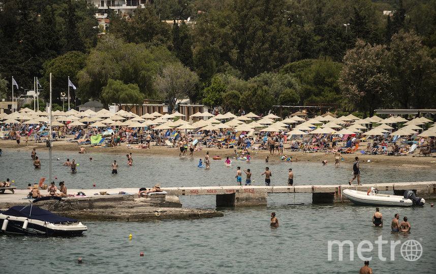 Пляж в Греции. Фото AFP