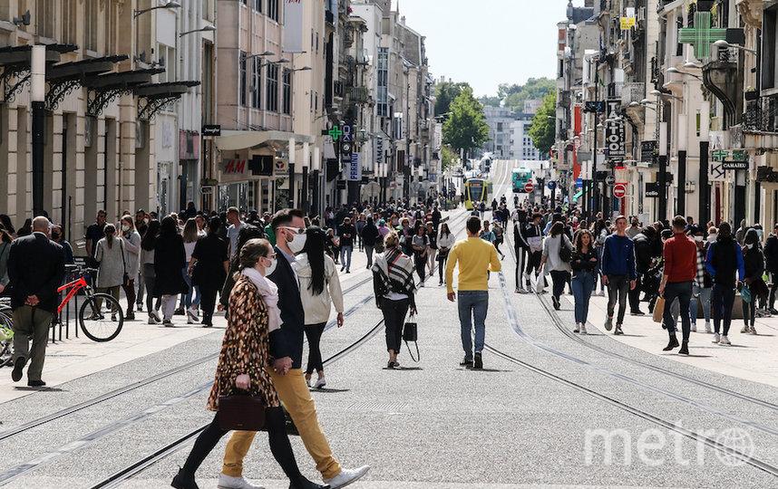 Толпы на улицах Реймса. Фото AFP