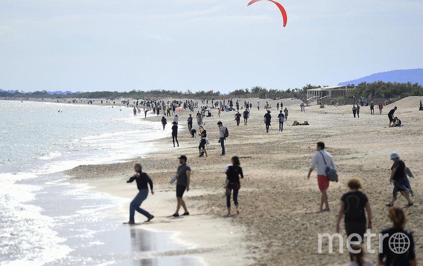 Пляж вблизи французского Монпелье. Фото AFP