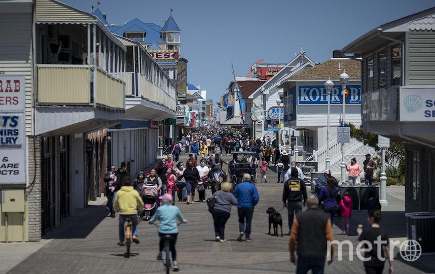 Улица в американском городе Оушен-Сити. Фото AFP