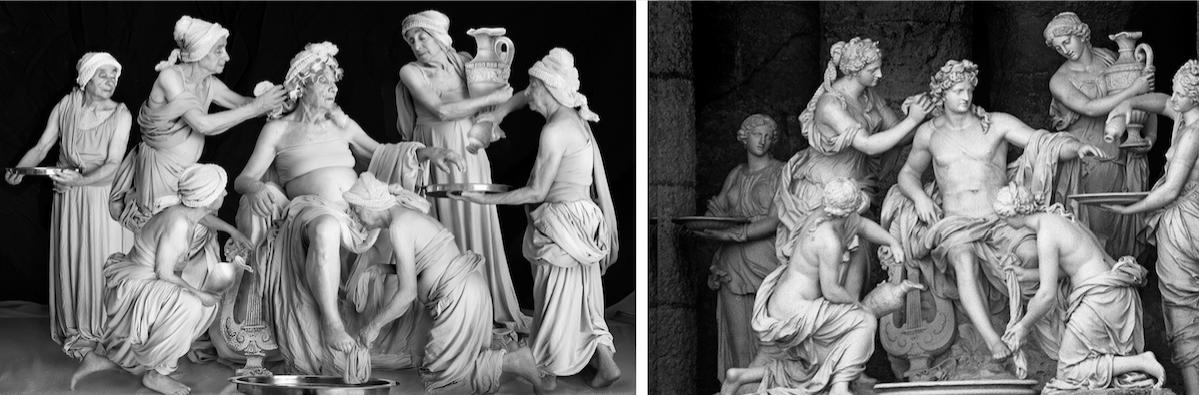 Самая амбициозная на сегодня работа – копия скульптурной композиции «Купальня Аполлона», или «Аполлон и нимфы» (1666–1675) Франсуа Жирардона, установленной в гроте Аполлона в Версале. Фото предоставлено Галиной Блейх