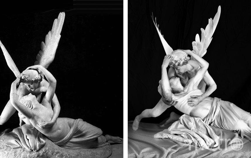 """""""Поцелуй Амура и Психеи"""" – первая многофигурная композиция, для которой модель пришлось размножить в фотошопе. Фото предоставлено Галиной Блейх"""