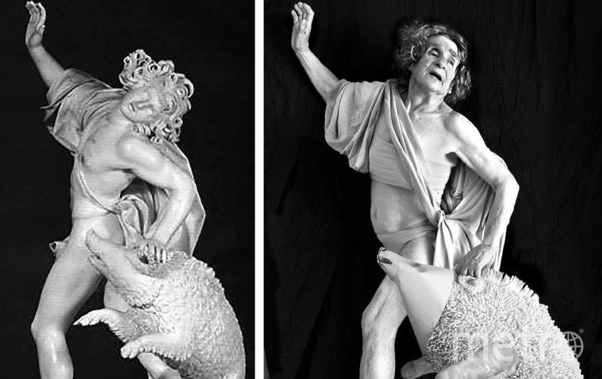 """Если вы ещё не читали текст, попробуйте отгадать, из чего сделан вепрь на копии мраморной скульптуры """"Гибель Адониса"""". Фото предоставлено Галиной Блейх"""