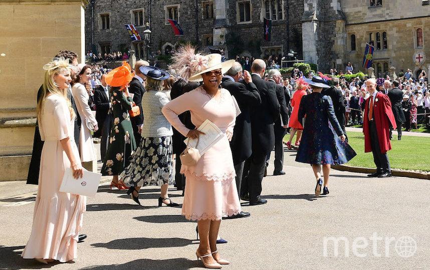 Опра Уинфри на свадьбе принца Гарри и Меган Маркл. Фото Getty