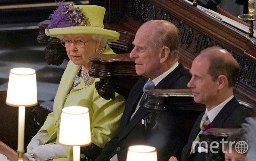 Королева Елизавета II и принц Филипп на свадьбе принца Гарри и Меган Маркл. Фото Getty