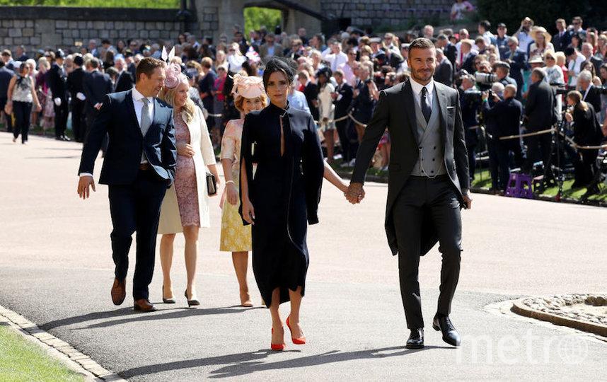 Дэвид и Виктория Бекхэм на свадьбе принца Гарри и Меган Маркл. Фото Getty