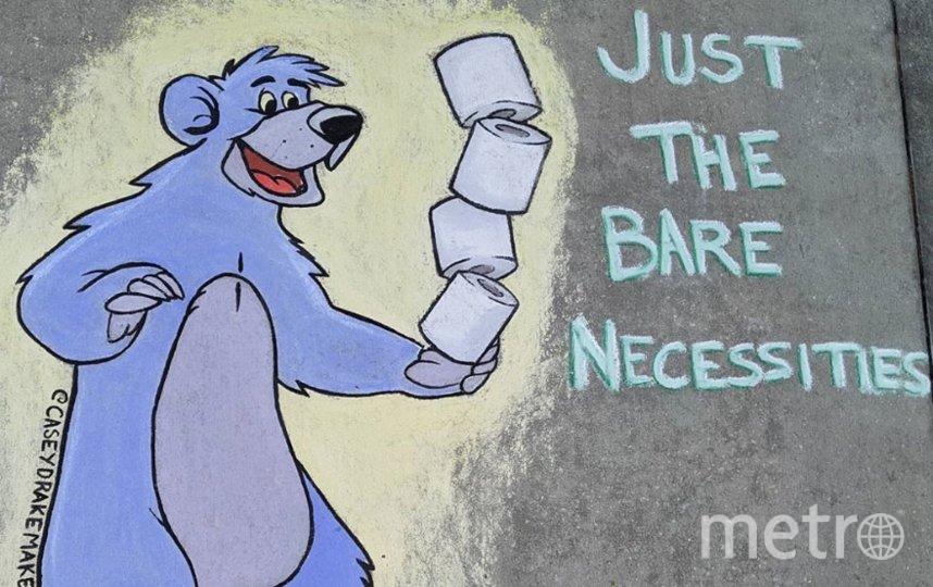 """Медведь Балу из """"Книги джунглей"""" считает туалетную бумагу """"необходимостью"""". Фото Instagram @caseydrakemakes"""