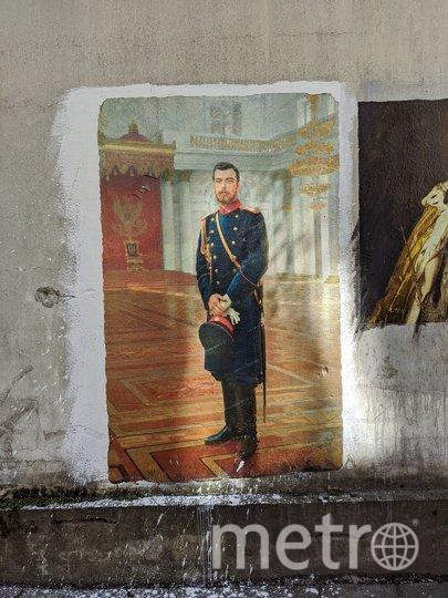 """В петербургском переулке появился """"Портрет Николая II"""". Фото olegmihalych, vk.com"""