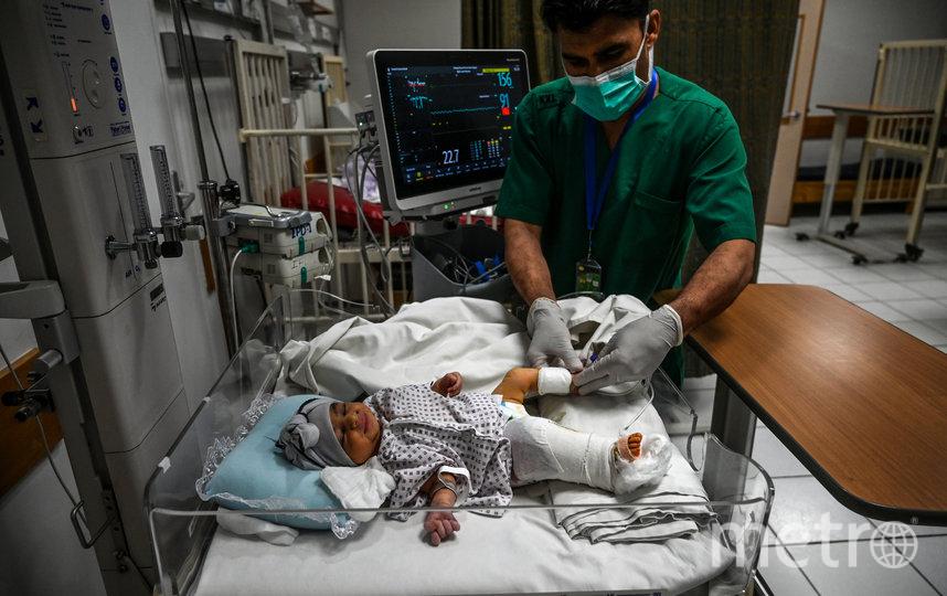 По данным BBC, в момент атаки Амине было всего 2 часа от роду. Фото AFP