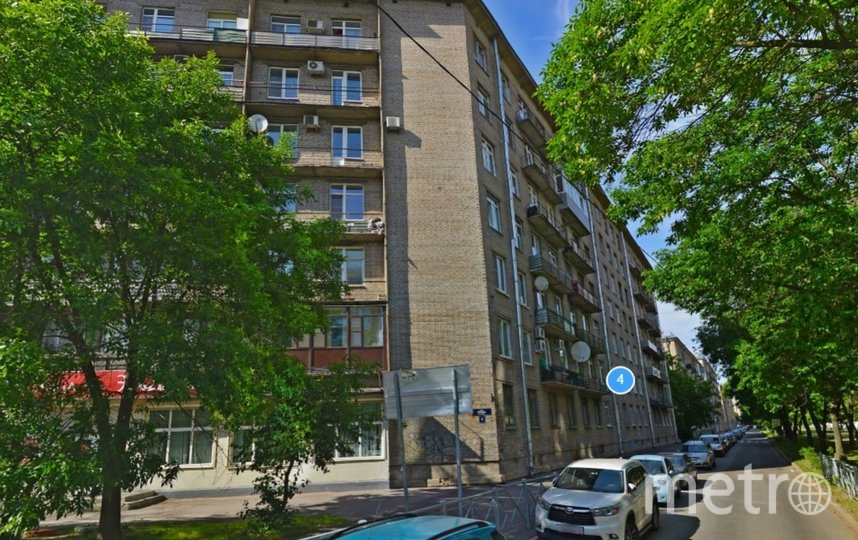 Доска появится на фасаде дома на улице Правды. Фото Яндекс.Панорамы