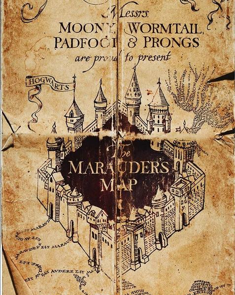 """Карта мародёров из фильма """"Гарри Поттер"""". Фото скриншот: instagram.com/harrypotter19800731/"""