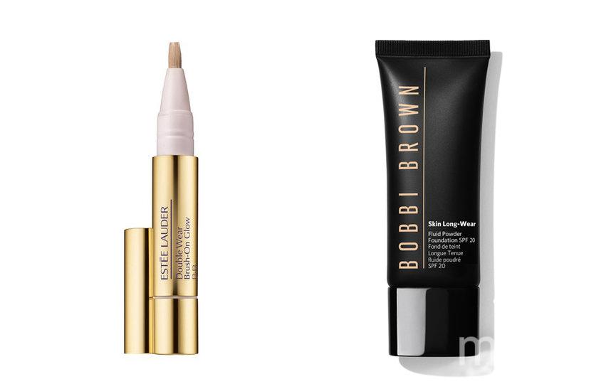 """Консилер Estee Lauder Double Wear Brush-On Glow BB (2800 руб.) / Тональный флюид Skin Long-Wear Fluid Powder Foundation SPF20 (3200 руб.). Фото Предоставлено интернет-магазином, """"Metro"""""""