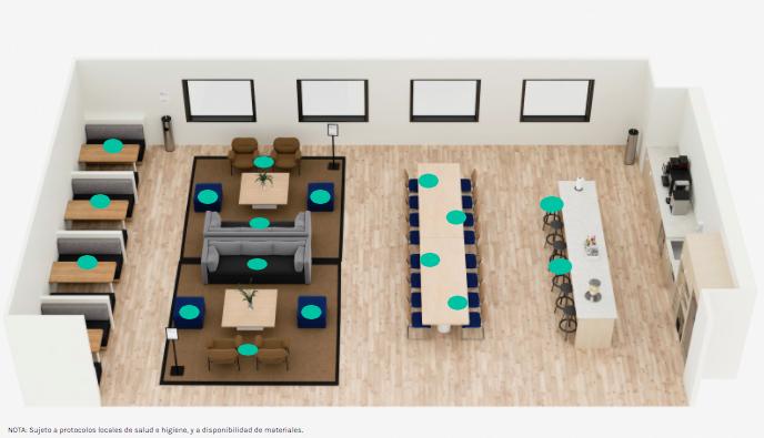 """Так выглядит схема офиса компании WeWork. Фото WeWork , """"Metro"""""""