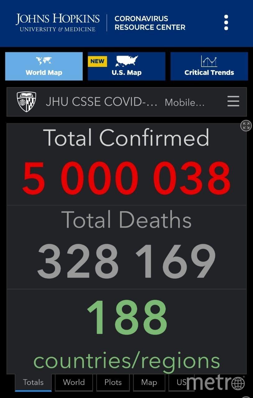 """Умерли от инфекции более 328 тысяч человек. Фото """"Metro"""""""