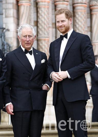 Принц Гарри с отцом принцем Чарльзом. Фото Getty