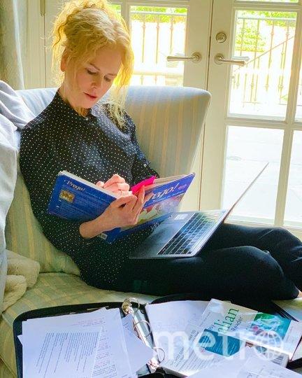 """Николь Кидман на карантине занялась изучением итальянского языка. Фото www.instagram.com/nicolekidman/, """"Metro"""""""