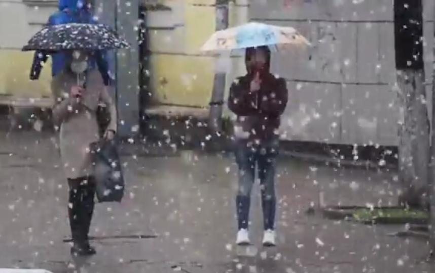 """""""Утром в Сергиевом Посаде: Майский снег"""". Фото Instagram: @tvr24"""