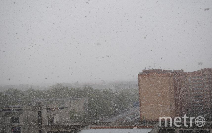 """Снег в Щелково. 21 мая 2020 год. В 07:30. Фото Instagram: @, """"Metro"""""""