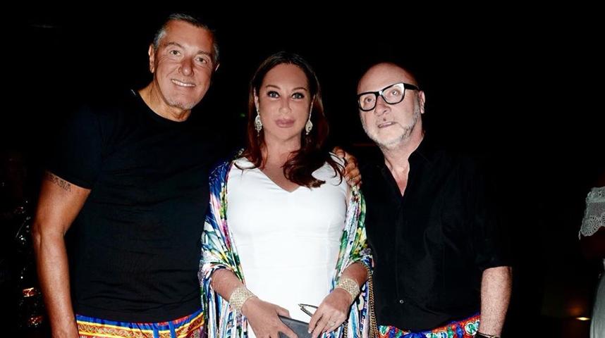Со Стефано Габбана и Доменико Дольче. Фото instagram.com/verberalla
