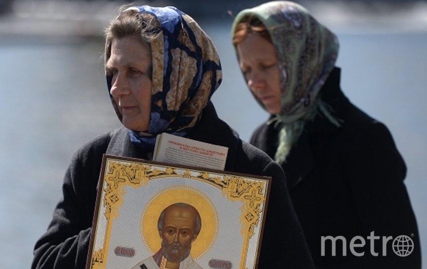 Верующие в очереди к мощам Николая Чудотворца в Москве в 2017 году. Фото РИА Новости