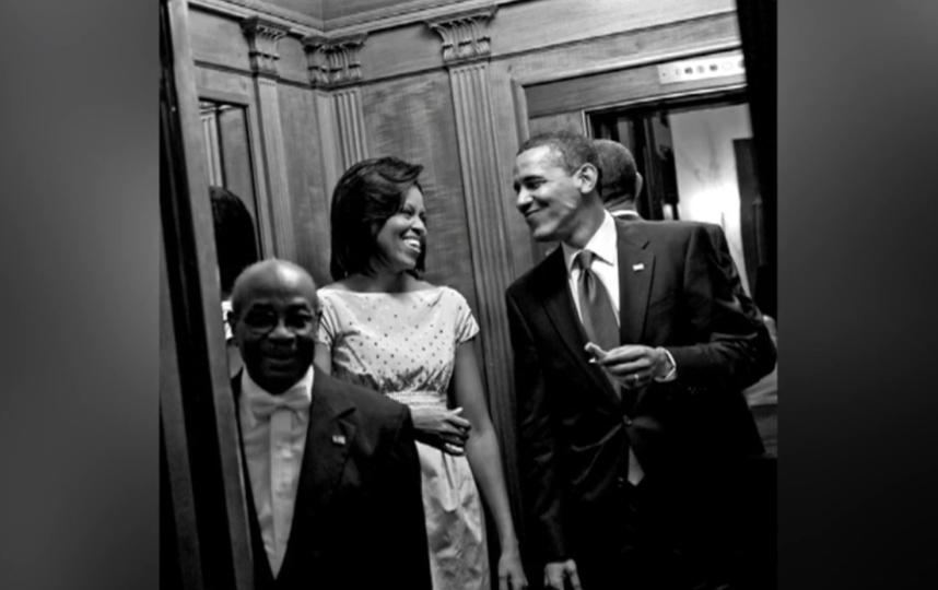 """Уилсон Рузвельт Джерман и супруги Мишель и Барак Обама. Фото Фото из книги Мишель Обамы """"Becoming. Моя история"""", скриншот, """"Metro"""""""