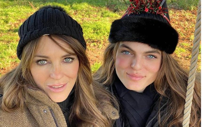 Дэмиан Хёрли и Элизабет Хёрли. Фото Instagram @damianhurley1