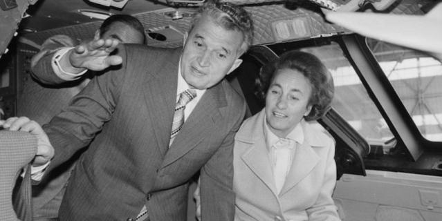 Николае Чаушеску с женой во время визита в Великобританию.