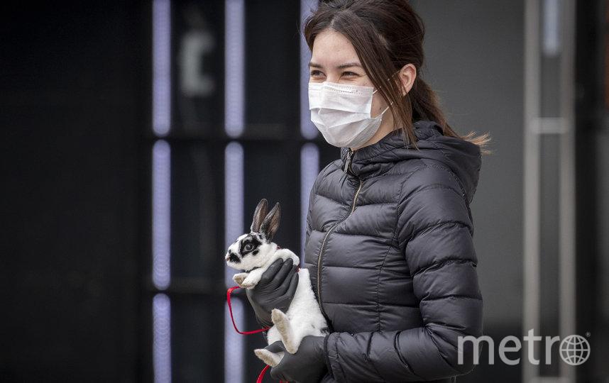 В связи с коронавирусом в Москве действует масочный и перчаточный режим. Маску и перчатки необходимо носить в общественном транспорте, а также в магазинах. Фото AFP
