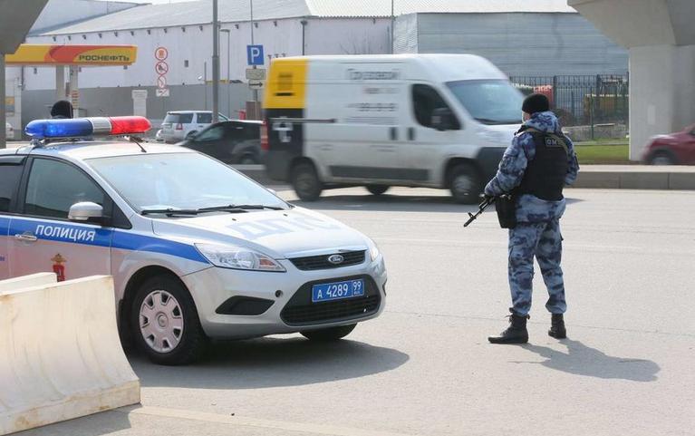 """После перестрелки на Каширском шоссе полиция ввела план """"Перехват"""" в Москве. Фото Василий Кузьмичёнок"""
