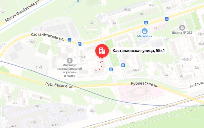 Место трагедии –ул. Кастанаевская. Фото yandex.ru/maps