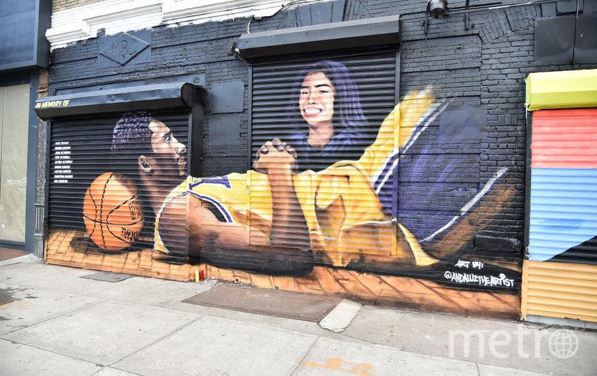 Граффити, посвящённое Коби Брайанту и его дочери. Фото Getty