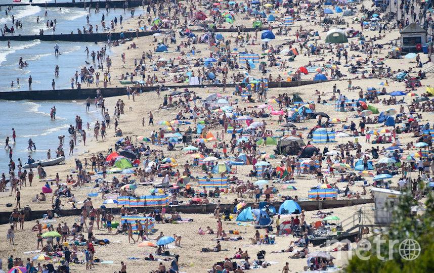 Так 25 мая выглядят британские пляжи. Фото Getty