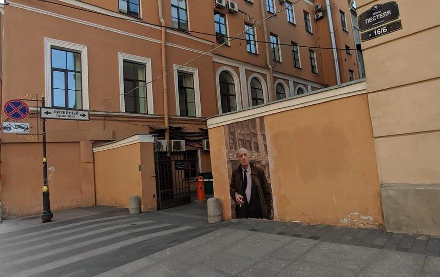 Портрет Иосифа Бродского прожил недолго. Фото olegmihalych, vk.com