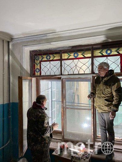 Реставратор за работой. Фото mytndvor, vk.com