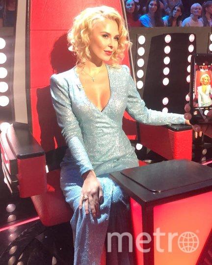 """Пелагея в кресле наставницы шоу """"Голос"""". Фото instagram.com/pelageya_insta."""