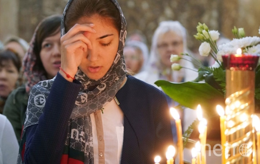 Во время празднования Вознесения Господня в Кафедральном соборе Христа Спасителя в Калининграде. Фото РИА Новости