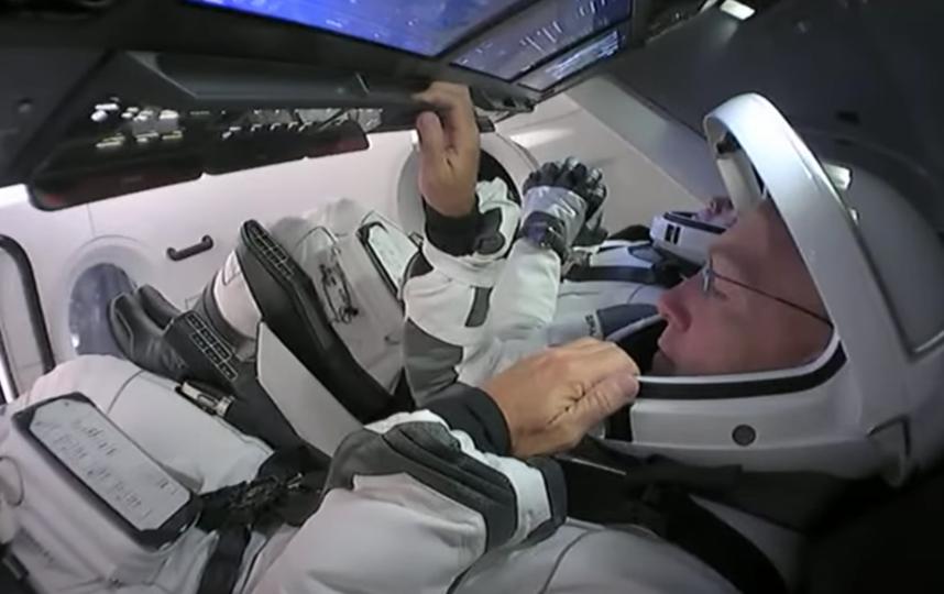 Астронавты тестировали оборудование, но так и не полетели. Фото скриншот с видео, Скриншот Youtube