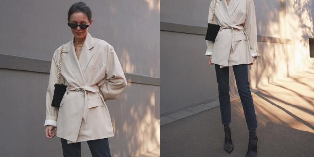 Хотите сделать образ более женственным? Обратите внимание на пиджаки с поясом.