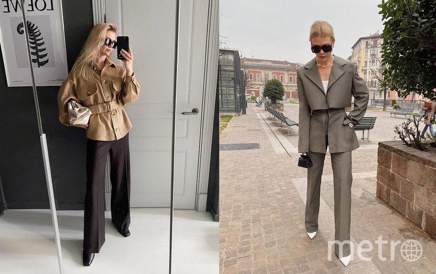 Брючные костюмы сегодня находятся в топе трендов. Фото instagram.com/romanenkovika