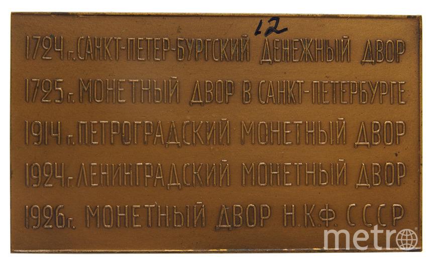 Плакетка, посвященная Ленинградскому монетному двору. 1926 г.