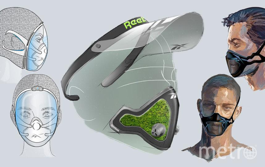 """Бренд Reebok представил концепт-арты защитных масок для бегунов и тех, кто занимается фитнесом на открытом воздухе. Фото Предоставлено пресс-службой, """"Metro"""""""