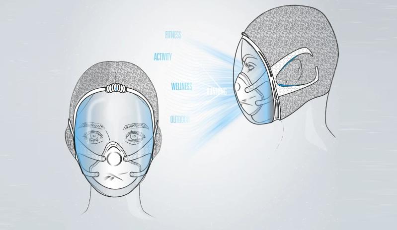 """Вторая маска называется Immersion Mask и представляет собой защитный шлем на всю голову, а дыхание проходит через внутренний распиратор. Фото Предоставлено пресс-службой, """"Metro"""""""