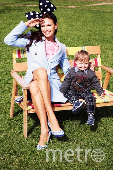 Эвелина Блёданс с сыном. Фото Предоставлено пресс-службой телеканала Dомашний.
